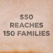 $50 Reaches 150 Families