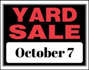 Great Annual Yard Sale Oct 7